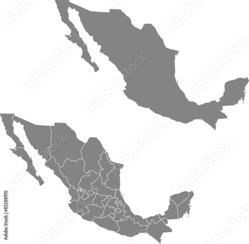 map of Mexico - 83288915