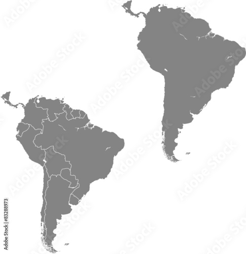 Fototapeta map of South America