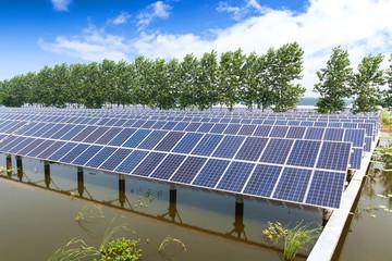 solar panels outdoors