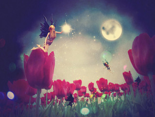 Fairy and Tulips