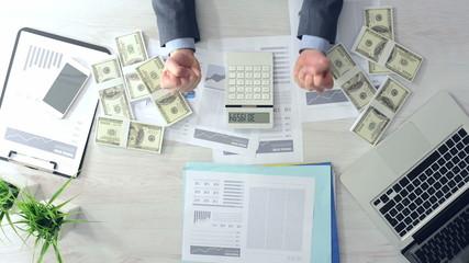 Successful rich businessman