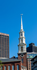 Old Church Steeple in Boston
