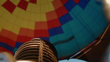 Hot air burning to the air balloon