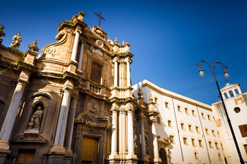 Baroque church in Palermo, Italy