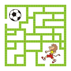 labyrinth, lion and soccer