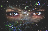 Fototapety Eyes of the Universe, space Eye, live space