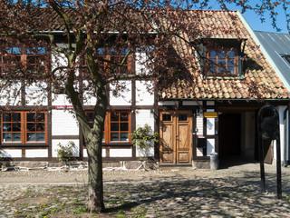 Old house in Ystad, Skane, Sweden
