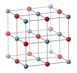Calcium oxide (CaO, quicklime, burnt lime), crystal structure