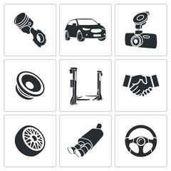 Car Repairs and Maintenance Icon set