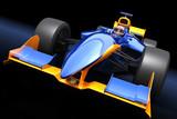 Generic blue race car