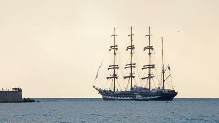 Big sailboat out to sea