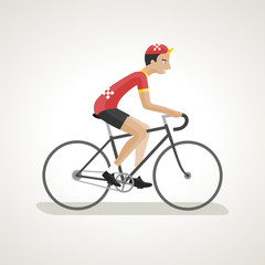 Vintage Cyclist 3 (red)