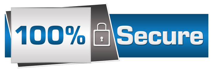 Hundred Percent Secure Blue Grey Horizontal