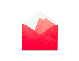 Envelope Red gift bag for the money in the Chinese New Year isol