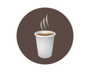3D coffee icon