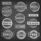 Commercial Grunge Vector Stamps