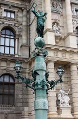 Artistic street lamp in Vienna