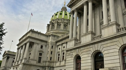 Wide Angle of Historic Pennsylvania State Capitol