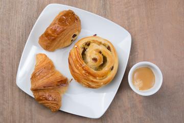 A  Sunny and tasty morning breakfast