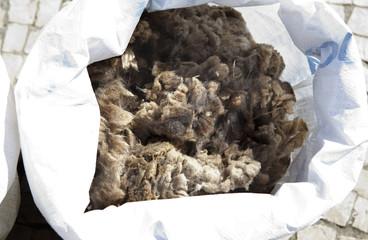 Sacks full of wool