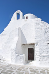 Paraportiani church in Mykonos, Greece
