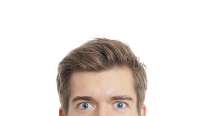 male eyes staring