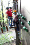 Person climbing on the wall