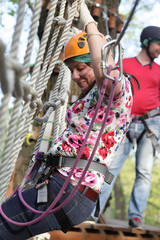 Woman at Aerial Adventure Park