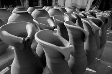 ceramic drying at sun
