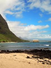 Sandy Beach on the island of Oahu in Hawaii