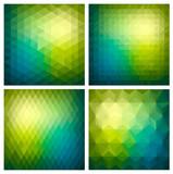 Fototapety Abstract  geometric green background set