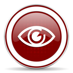 eye red glossy web icon