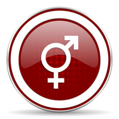 sex red glossy web icon