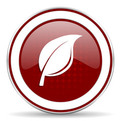 nature red glossy web icon