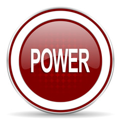 power red glossy web icon