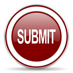 submit red glossy web icon
