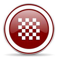 chess red glossy web icon