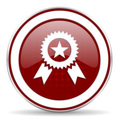 award red glossy web icon