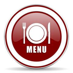 menu red glossy web icon