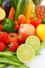 美味しそうな野菜と果物