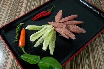 Thai Fermented Sausages or Thai Fermented Sausage