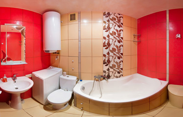 Red bathroom