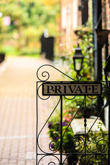 sign indicating privacy