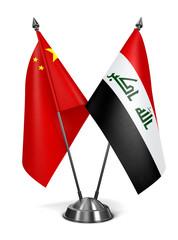China and Iraq - Miniature Flags.