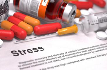 Stress Diagnosis. Medical Concept.