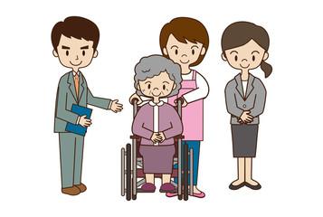 福祉スタッフと高齢者