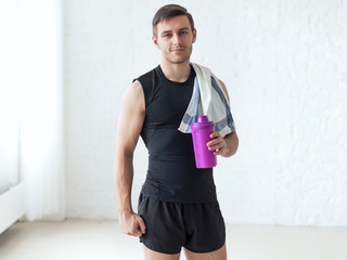Portrait of a athletic man after doing exercises sportsman