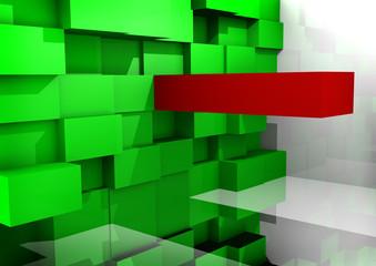 Fundo com blocos Verdes