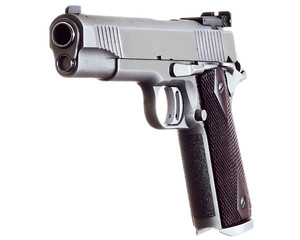 45 Caliber Custom Competition Match Grade Stainless Steel Pistol