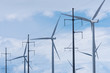 Wind Turbines with Electricity Power Pylons